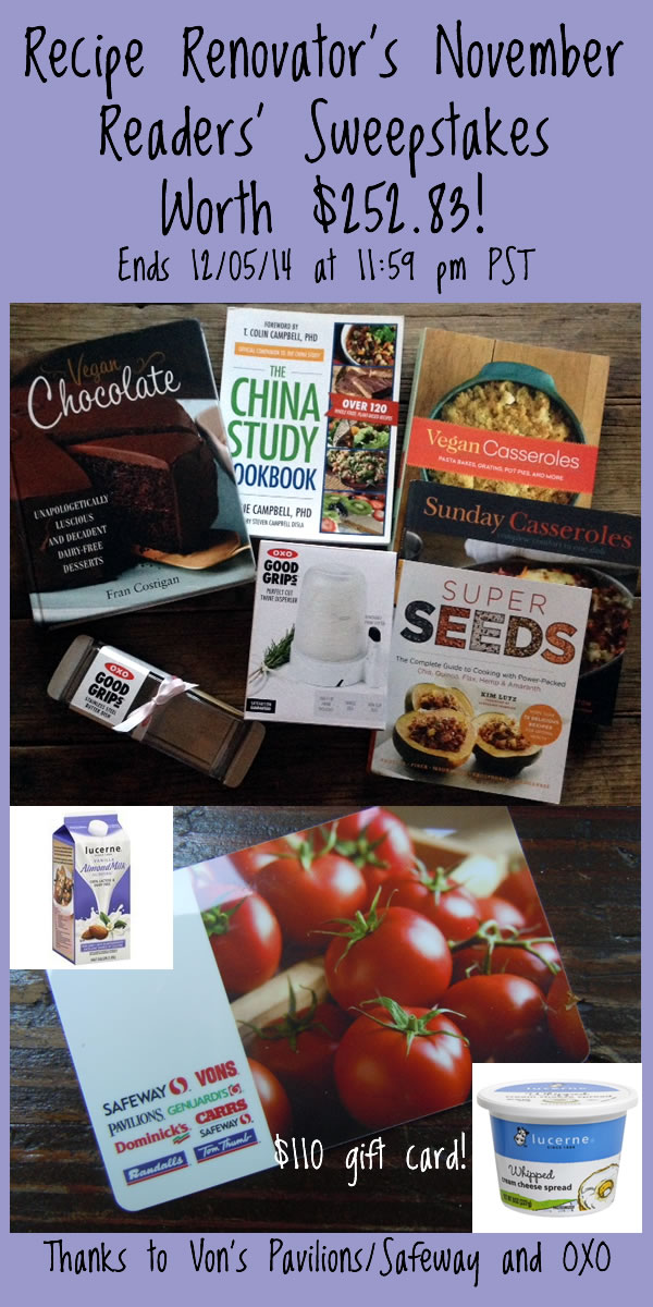 November 2014 readers sweepstakes   Ends 12/5/14 at 11:59 PM PST