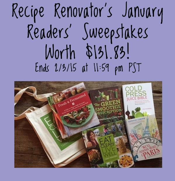 Recipe Renovator's readers' sweepstakes | January 2015 Prizes