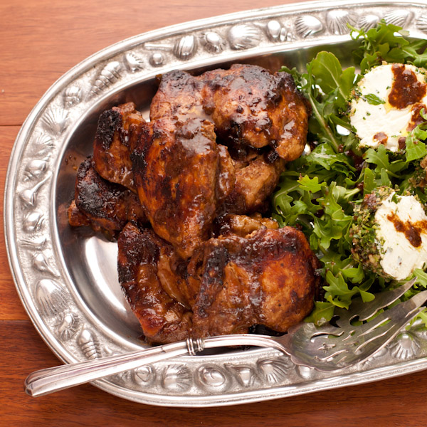 Fig-balsamic glazed chicken thighs | Gluten-free