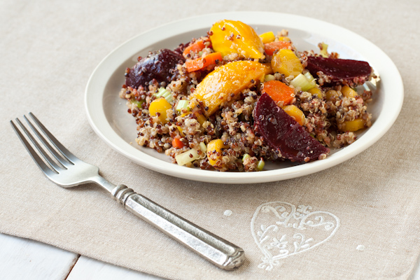 Roasted Beet Quinoa Salad from Recipe Renovator | Gluten-free, low-sodium, vegan, dairy-free