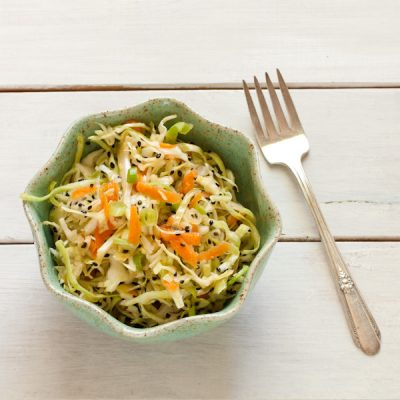 Asian-inspired Cabbage Slaw from Stephanie Weaver | Gluten-free, vegan, paleo, Whole30, dairy-free