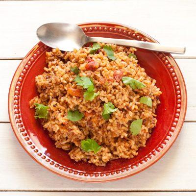 Salsa Rice | Gluten-free, low-sodium, vegan