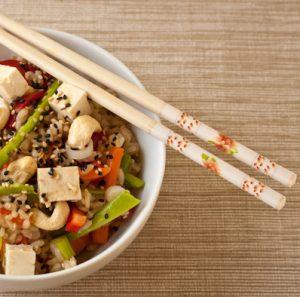 Asian rice bowl salad