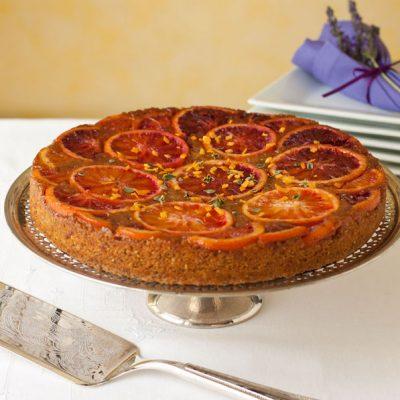 Blood Orange Upside Down Polenta Cake