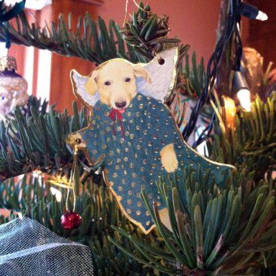 Doggie angel ornament
