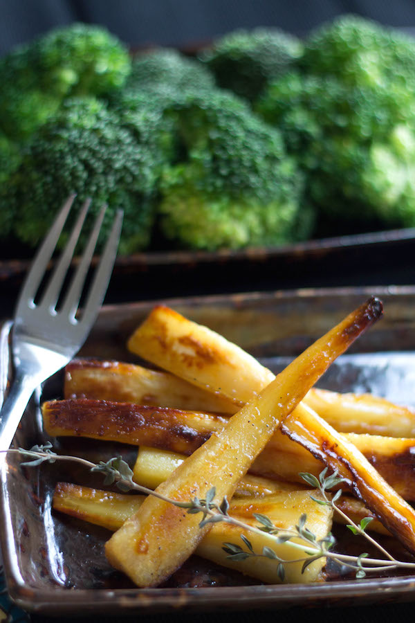 Honey-Maple Roasted Parsnips from Errens Kitchen