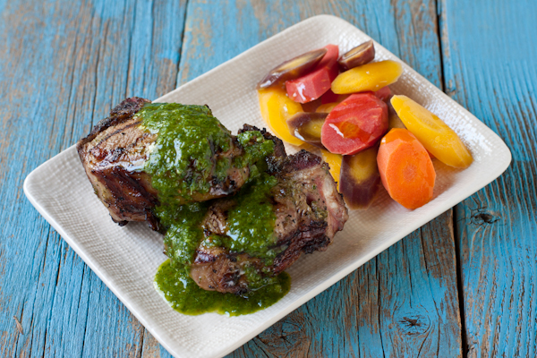 Grilled Lamb Chops with Mint Chimichurri | Gluten-free, low-sodium, paleo | Recipe Renovator