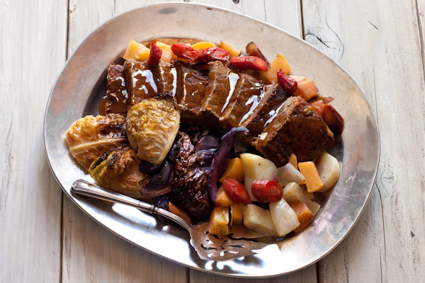 Slow-braised Irish Beef with Crispy Cabbage and Root Vegetables | Recipe Renovator | Gluten-free, low-sodium