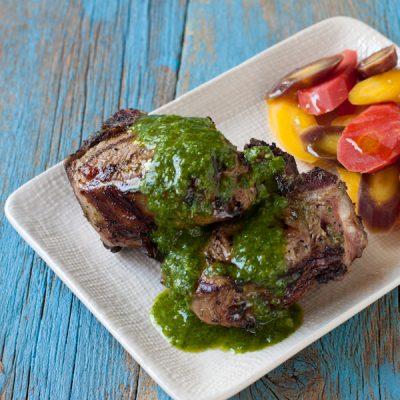 Grilled Lamb Chops Mint Chimichurri600