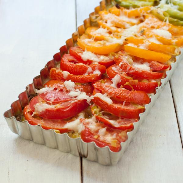 Summer Tomato-Leek Tart with quinoa crust | Gluten-free, migraine-friendly, low-sodium | Recipe Renovator