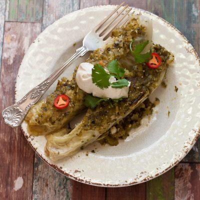 "Chicken ""enchiladas""   Recipe Renovator   paleo, gluten-free, low-sodium"