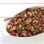 Roasted Brussels Sprouts with Fresh Cranberries and Toasted Pecans | Gluten-free, low-sodium, paleo | Recipe Renovator