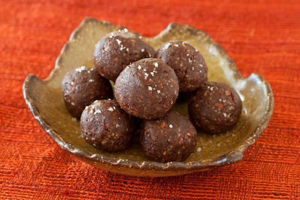 Pecan-date-cacao truffles with Kona liqueur   Gluten-free, paleo, whole foods   Recipe Renovator