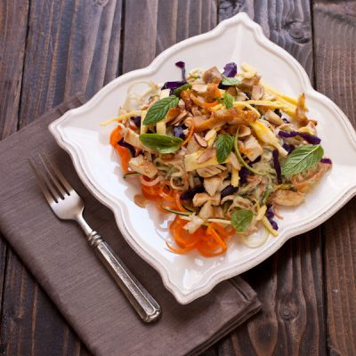 Zucchini Pad Thai inspired by Eating Clean on Recipe Renovator | Paleo, grain-free, gluten-free, Whole30 compliant