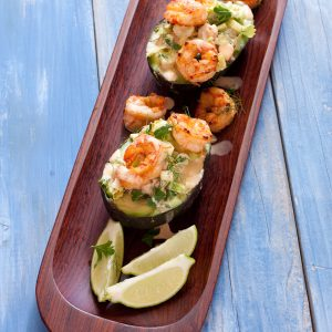Shrimp Salad in Avocado Boats   Recipe Renovator   Gluten-free, paleo, grain-free, nut-free