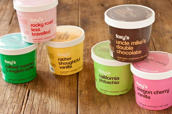 Foxys Ice Cream review on Recipe Renovator | Gluten-free, small batch, lower sugar, probiotic