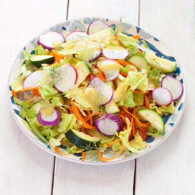 Out of lettuce? Make this leftovers salad from stuff in your fridge right now