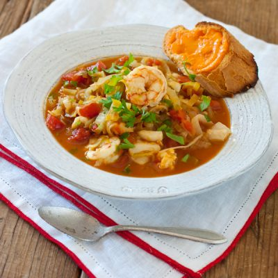 Bouillabaisse and rouille   Gluten-free, paleo (without the bread), dairy-free, healthy!