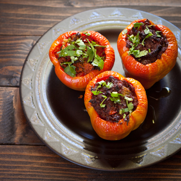 Beefy stuffed peppers from Recipe Renovator   paleo, gluten-free, grain-free, low-sodium, dairy-free