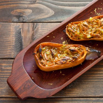 Stuffed honeynut squash from Recipe Renovator | Vegan, paleo, gluten-free