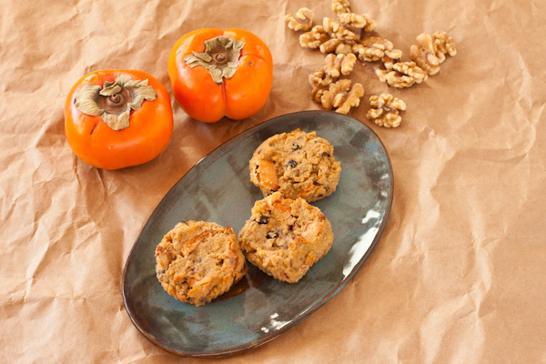 Persimmon-walnut muffins from Recipe Renovator   Grain-free, paleo, vegan