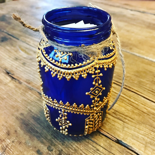 Blue Henna Jar from MK Connection on Etsy